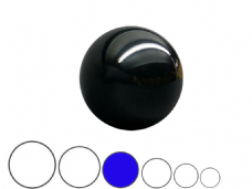 Jac Products Black Translucent 80mm Acrylic Contact Ball